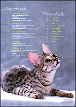 Check out Page 2 of CAT FANCY Magazine, June 2004 for Sunny Spots!