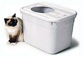 Clever Cat revolutionary top opening litter box with heavy duty plastic liners