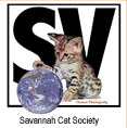 Proud member of The Savannah Cat Society